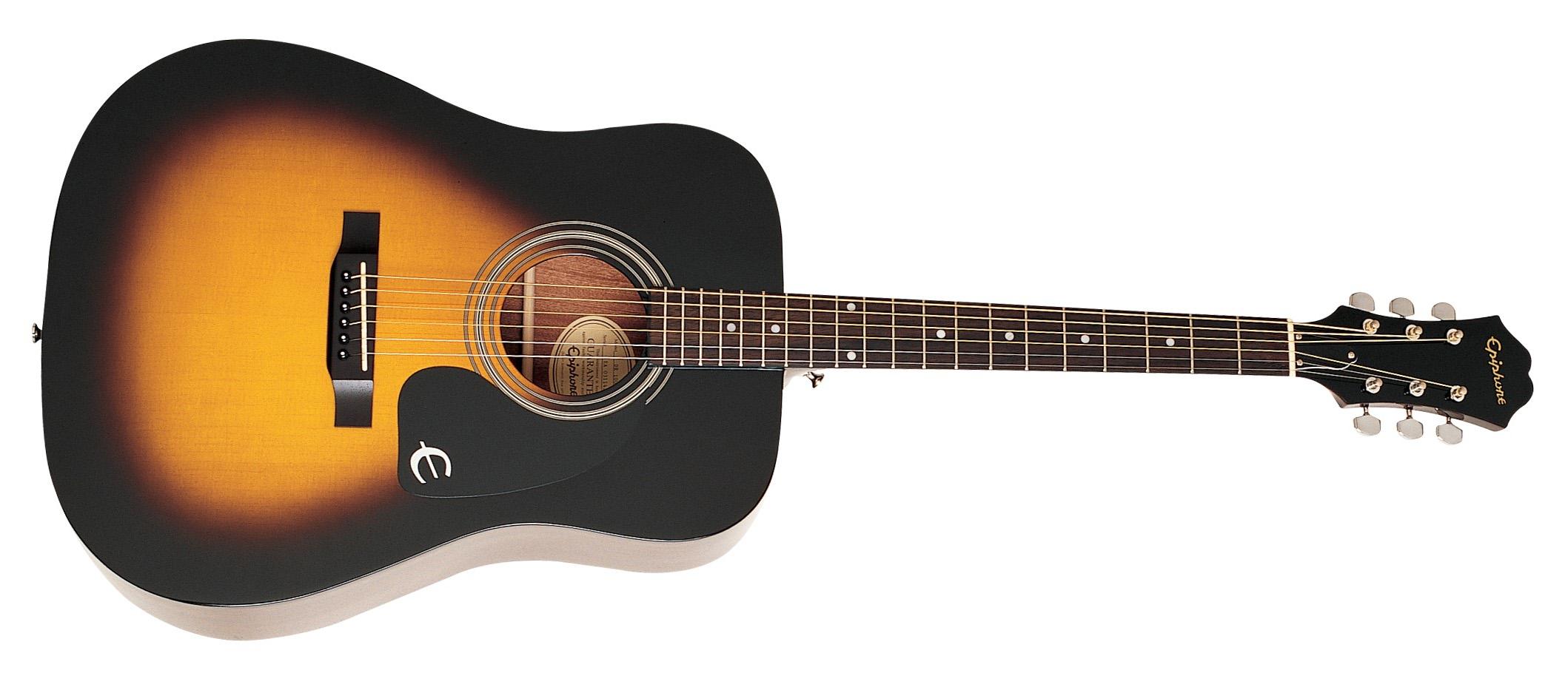 Epiphone DR-100 Acoustic - Vintage Sunburst - Long & McQuade Musical  Instruments