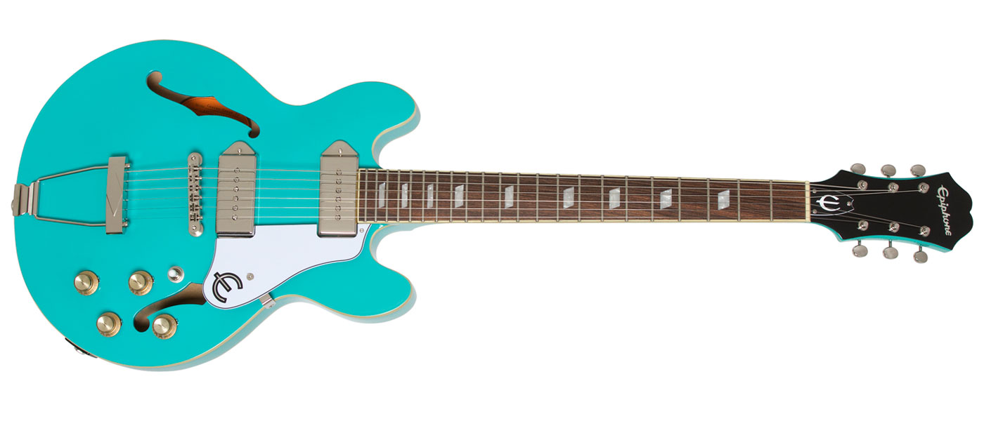 epiphone casino turquoise for sale