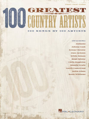 100 Greatest Country Artists - Piano/Vocal/Guitar - Book