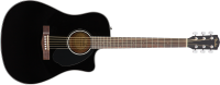Fender - CD-60SCE Dreadnought, Walnut Fingerboard - Black