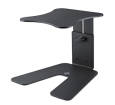 K & M Stands - Height-Adjustable Table Monitor Stand - Black