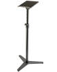 K & M Stands - Steel Monitor Stand w/ Tilting Tray - Black