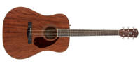 Fender - PM-1 All-Mahogany Dreadnought w/ Case - Natural