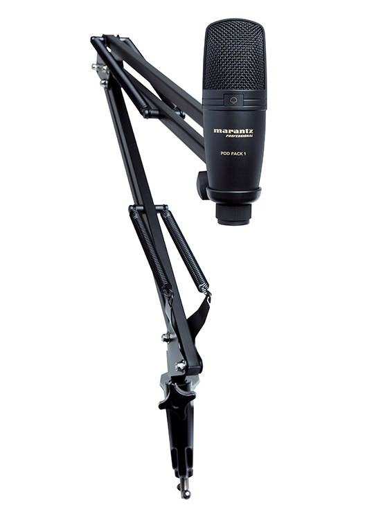 Marantz Pod Pack 1 Usb Mic W Broadcast Stand And Cable