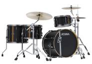 Tama - Hyper-Drive Duo 4-Piece Shell Pack (20,12,16, Duo Snare) - Flat Black Vertical Stripe