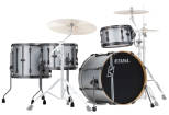 Tama - Hyper-Drive Duo 4-Piece Shell Pack (20,12,16, Duo Snare) - Satin Silver Vertical Stripe