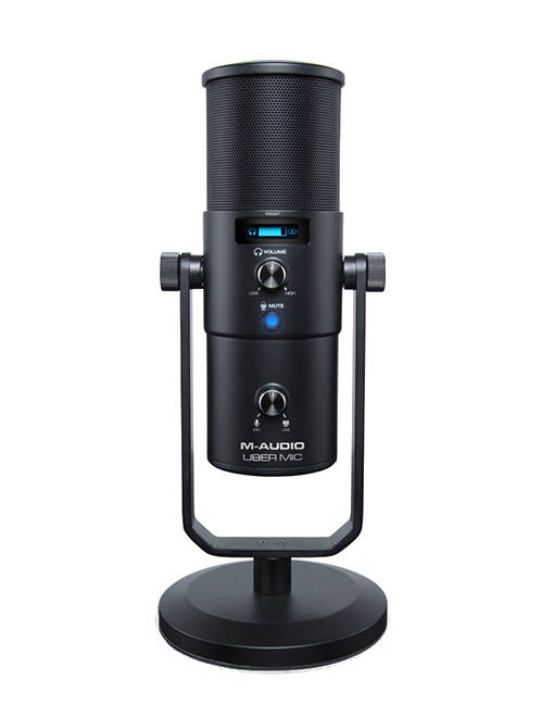 m audio uber mic professional usb condenser microphone w headphone output long mcquade. Black Bedroom Furniture Sets. Home Design Ideas