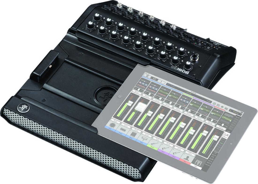 mackie dl1608 digital live sound mixer w lightning connector ipad controlled long mcquade. Black Bedroom Furniture Sets. Home Design Ideas