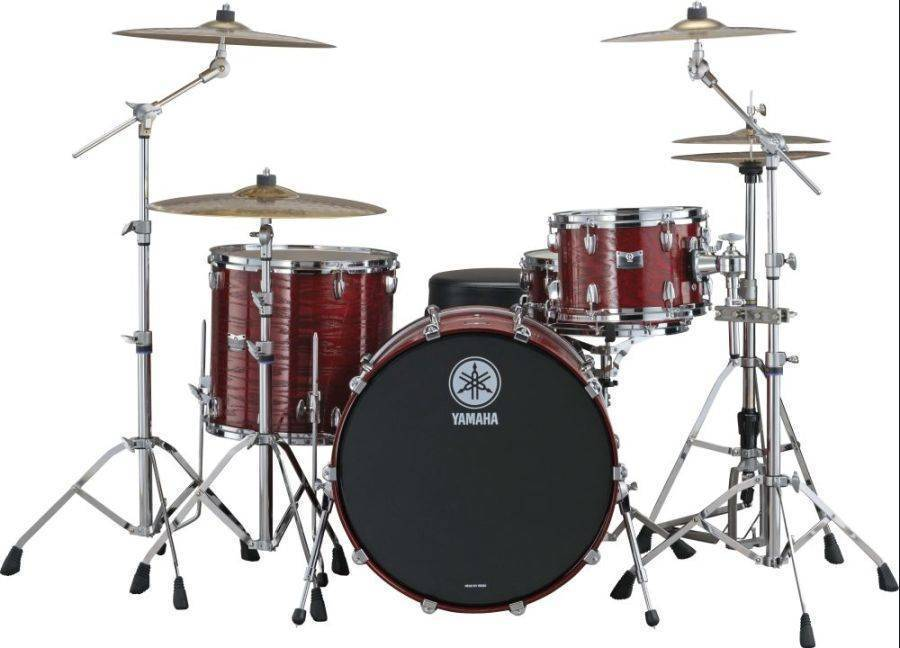 yamaha rock tour 4 piece drum kit textured red long mcquade musical instruments. Black Bedroom Furniture Sets. Home Design Ideas