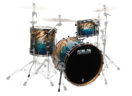 USA Custom 3-Piece Birch Shell Pack - 12/16/22 - Blue Fade Dip