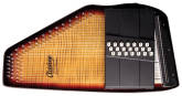 Oscar Schmidt - OS150FCE 21 Chord Electric Autoharp - Flame Maple
