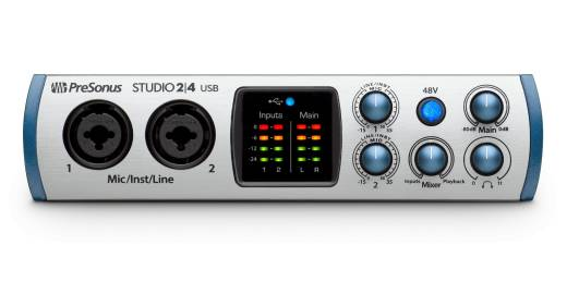 Studio 24  2x2 24-bit/192 kHz USB-C Audio Interface