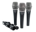 CAD Audio - D38 Supercardioid Dynamic Vocal Microphones - 3 Pack w/ Case and Clips