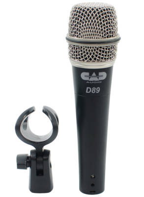 D89 Supercardioid Dynamic Instrument Microphone w/ Clip and Case