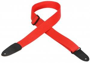 Soft-Hand Polypropylene Guitar Strap - Red