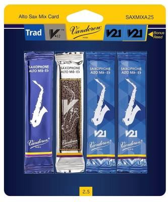 Alto Saxophone Reed Mix Card 2.5