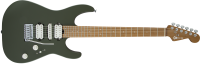 Charvel Guitars - Pro-Mod DK24 HSH Electric Guitar w/Caramelized Maple Fingerboard - Matte Army Drab