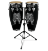 Latin Percussion - Aspire 10 and 11 Conga Set w/Stand - Santana Lion
