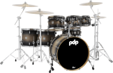Pacific Drums - CM7 Concept Series Maple 7-Piece Shell Pack (22,8,10,12,14,16,SD) - Satin Charcoal Burst