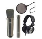 CAD Audio - GXL2200BPSP Studio Pack w/ GXL2200BP, GXL1200BP, MH110, EPF15A - Black Pearl Chrome