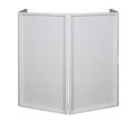 American DJ - Event Facade II Privacy Frame w/ 4-Panel Scrim and Bag - White