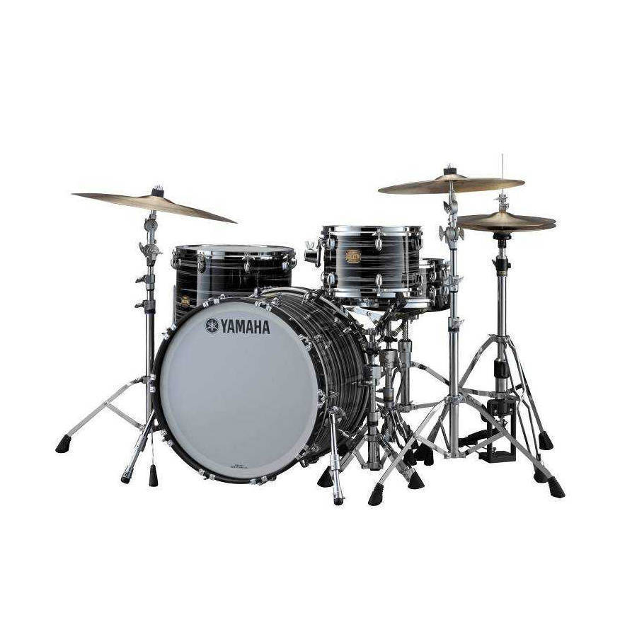 yamaha club custom 5 piece drum kit with hardware black long mcquade musical instruments. Black Bedroom Furniture Sets. Home Design Ideas