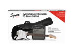 Squier - Strat Pack w/Frontman 10G Amp, Gigbag & Accessories - Black