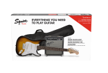 Squier - Strat Pack w/Frontman 10G Amp, Gigbag & Accessories - Brown Sunburst