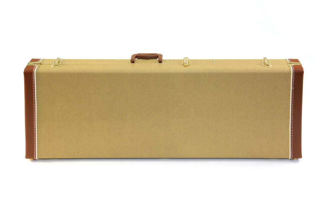 yorkville sound deluxe tweed rectangular guitar case long mcquade musical instruments. Black Bedroom Furniture Sets. Home Design Ideas