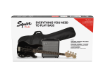 Squier - Affinity PJ Bass Pack, Laurel Fingerboard - Black