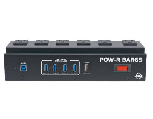 POW-R BAR65 Power Block w/ 6 Surge-Protected AC Outlets and 4-Port USB Hub