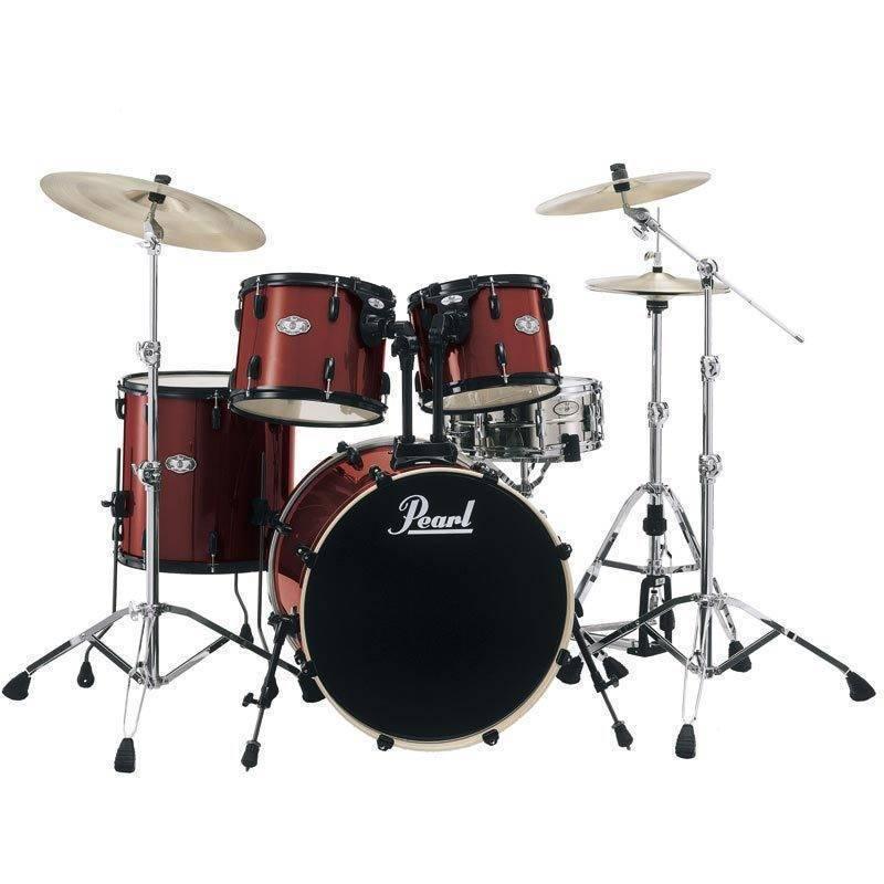 pearl vision vb 5 piece drum kit wine red long mcquade musical instruments. Black Bedroom Furniture Sets. Home Design Ideas