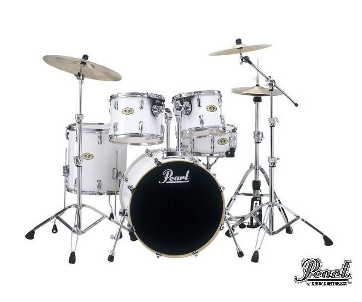 pearl vision vml 5 piece drum kit white long mcquade musical instruments. Black Bedroom Furniture Sets. Home Design Ideas