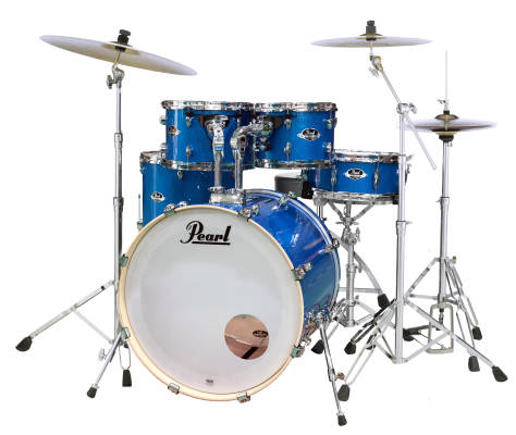 Export EXX 5-Piece Drum Kit w/Cymbals, Hardware and Throne - Blue Vibe