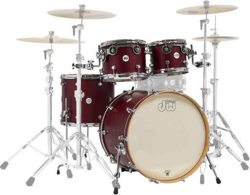 Design Series 4-Piece Shell Pack (22, 16, 12, 10) - Satin Deep Cherry