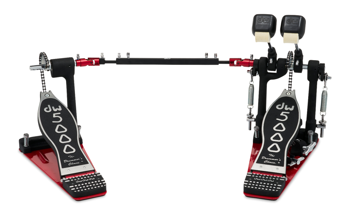 drum workshop 5000 series double bass drum pedal w single chain long mcquade musical. Black Bedroom Furniture Sets. Home Design Ideas