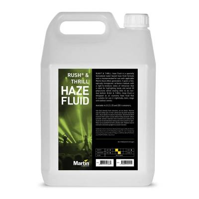Rush & Thrill 5L Haze Fluid, Water-based