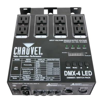 DMX4-2.0 LED Dimmer and Relay Pack