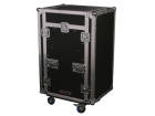 Odyssey - Glide Style Combo Rack Case w/ Wheels & Side Table - 11U Top Slant, 16U Vertical