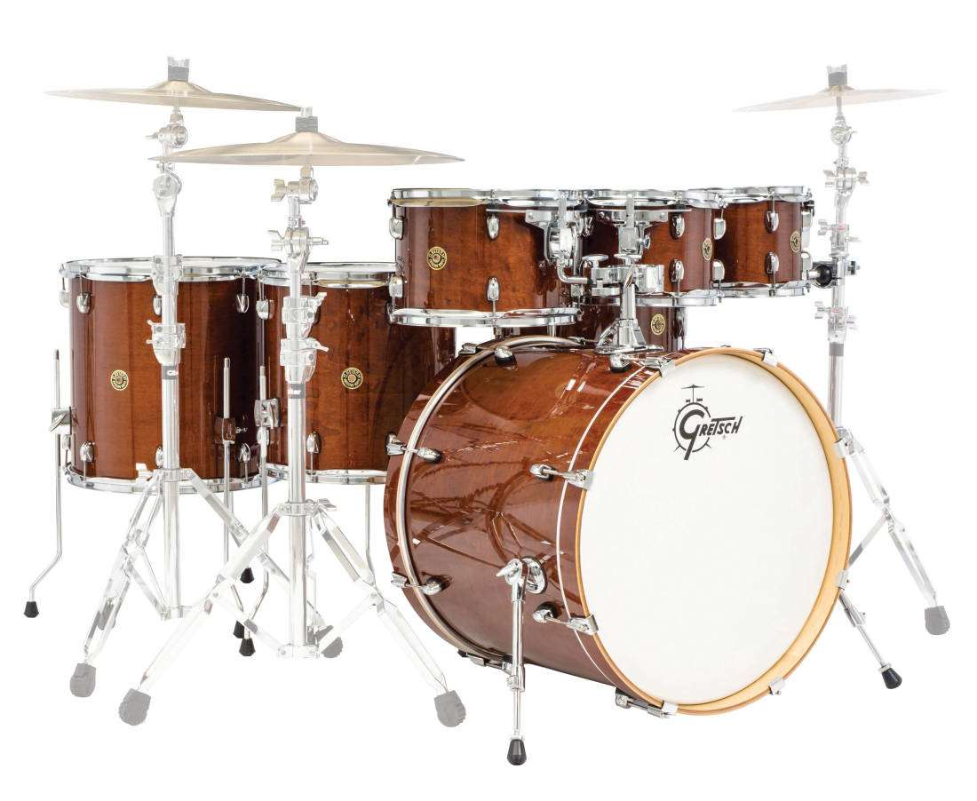 gretsch drums catalina maple 7 piece shell pack walnut glaze long mcquade musical instruments. Black Bedroom Furniture Sets. Home Design Ideas