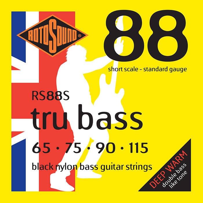 rotosound black nylon flatwound short scale bass string set 65 115 long mcquade musical. Black Bedroom Furniture Sets. Home Design Ideas