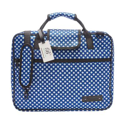 Sheet Music Bag - Blue Polka Dot