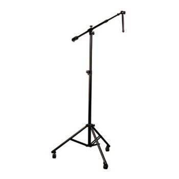 yorkville sound professional studio boom stand with wheels long mcquade musical instruments. Black Bedroom Furniture Sets. Home Design Ideas