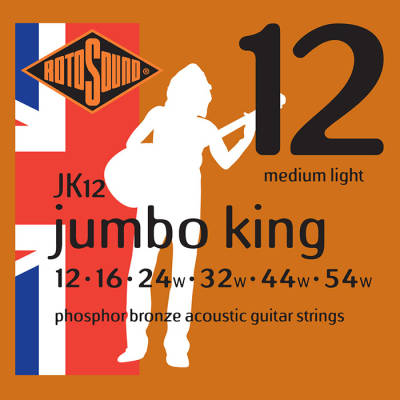 Phosphor Bronze 12-54 Light Acoustic Strings