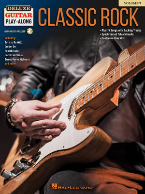 Classic Rock: Deluxe Guitar Play-Along Volume 7 - Book/Audio Online