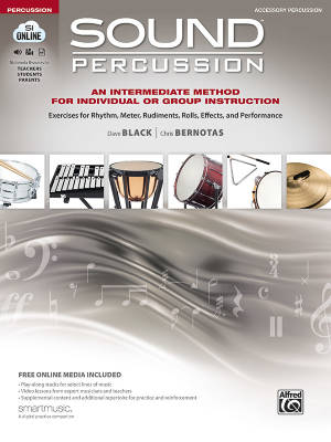Sound Percussion: An Intermediate Method for Individual or Group Instruction - Black/Bernotas - Accessory Percussion - Book/Media Online