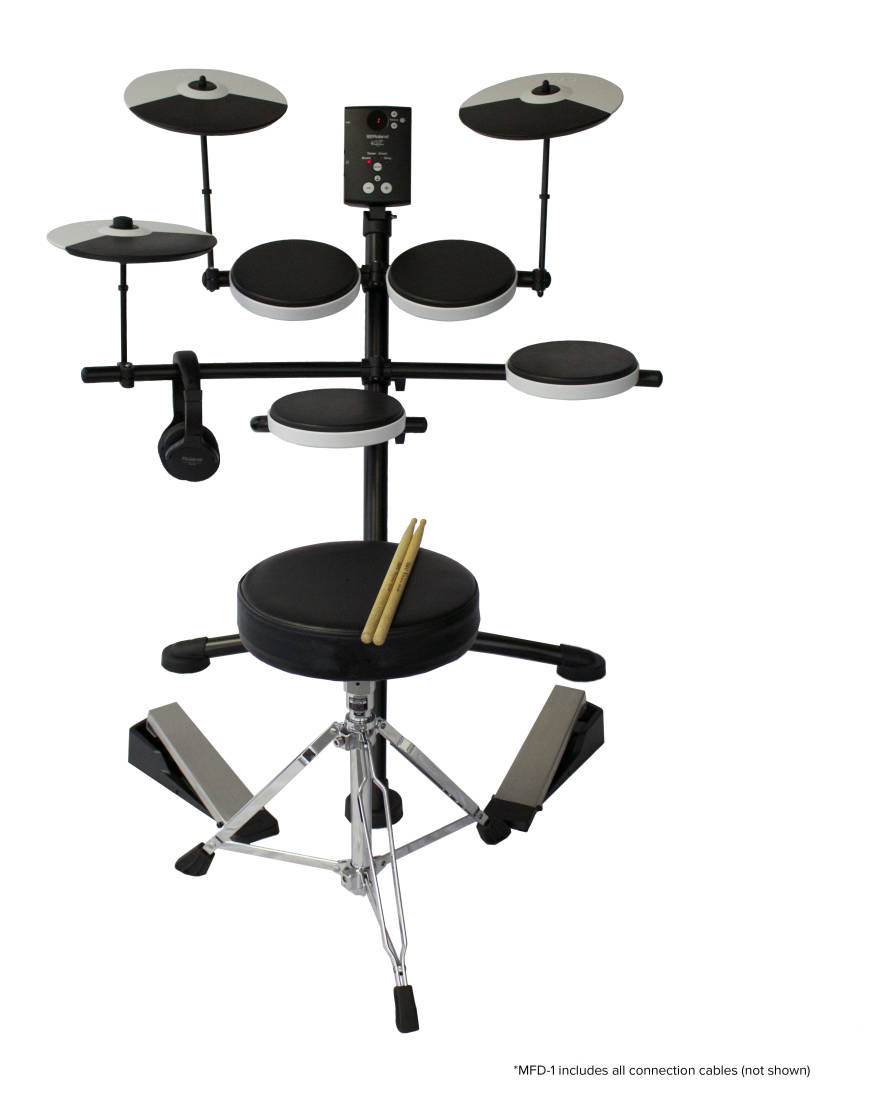 Roland Custom Lite V-Drum Kit W/Throne, Sticks And Headphones - Long