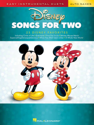 Disney Songs for Two Saxes - Phillips - Saxophone Duets - Book