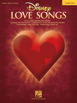 Disney Love Songs (3rd Edition) - Piano/Vocal/Guitar - Book