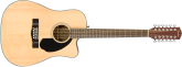 Fender - CD-60SCE Dreadnought 12-String Acoustic-Electric Guitar - Natural